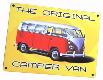 VW Original Camper Sign