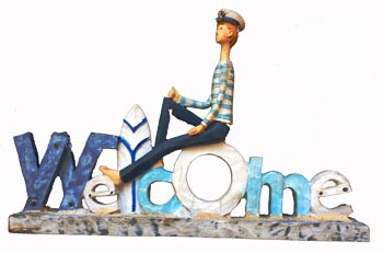 Boy Sailor Welcome Sign